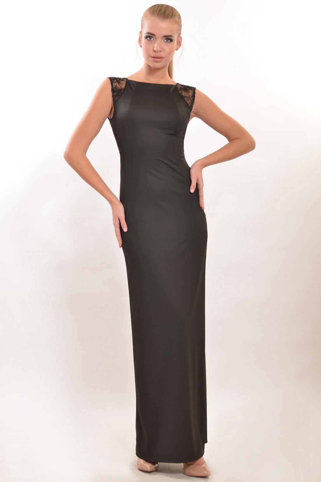 b96553f6252 Элегантное черное вечернее платье в пол Венеция - купить недорого ...
