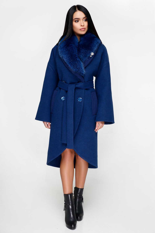Синє пальто П-1089 Тон 8 - купити недорого — Donna Bella - F-П-1089-8-44 6acb42fcb6d9b