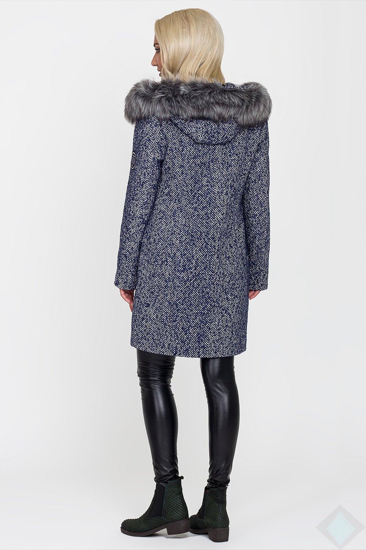 Зимове синє пальто Данія - купити недорого — Donna Bella - LP-Дания-1-42 bfeacd439501c