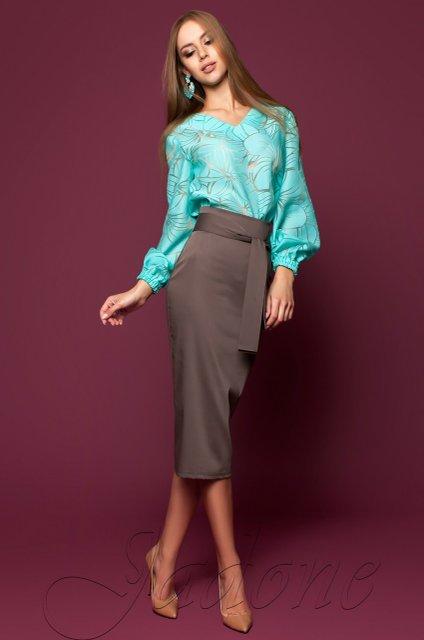 abce1a9245b Коричневая юбка-карандаш Жаклин - купить недорого — Donna Bella - J ...