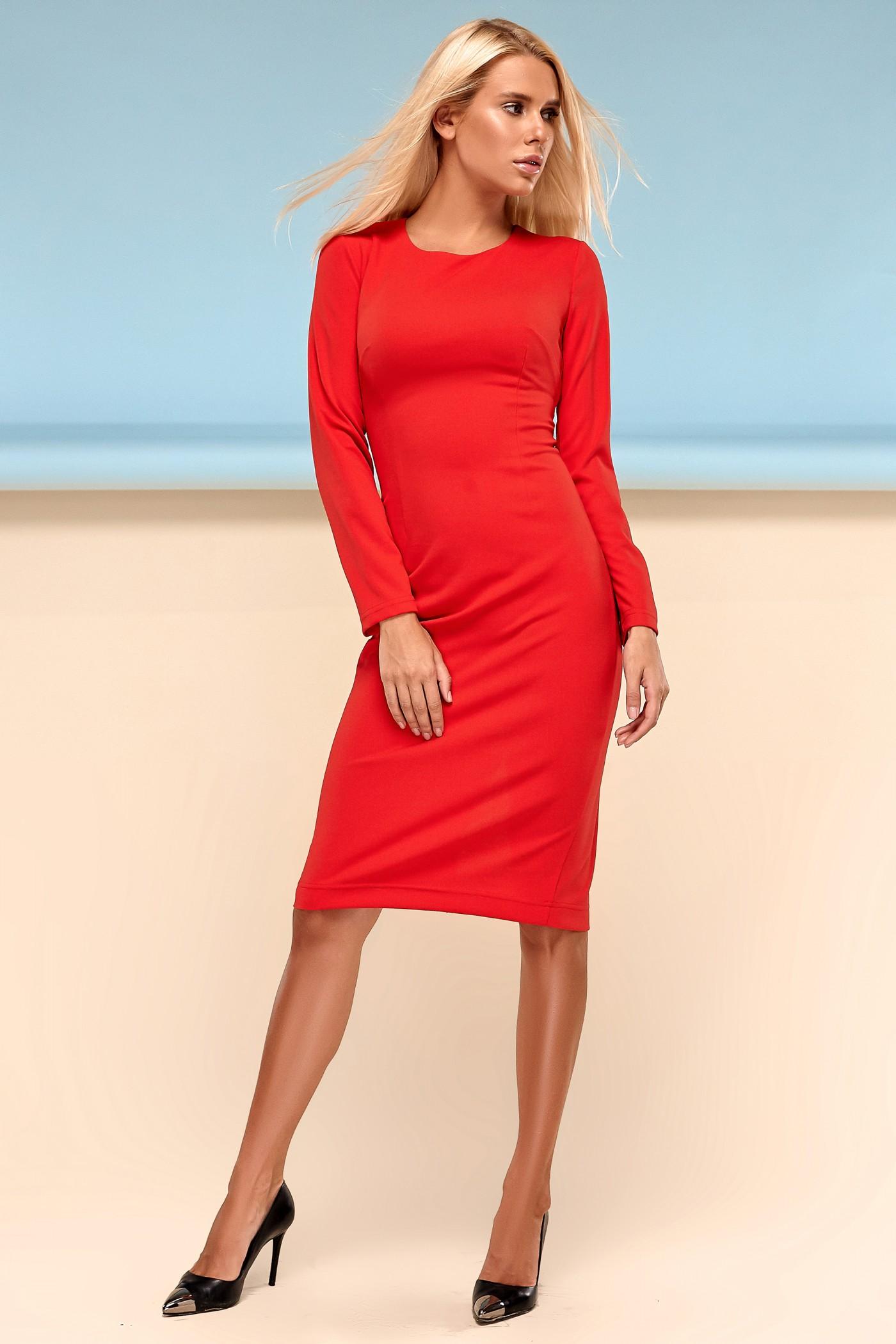 c37550f4e7e Красное платье Заира - купить недорого — Donna Bella - J-Заира-1-42