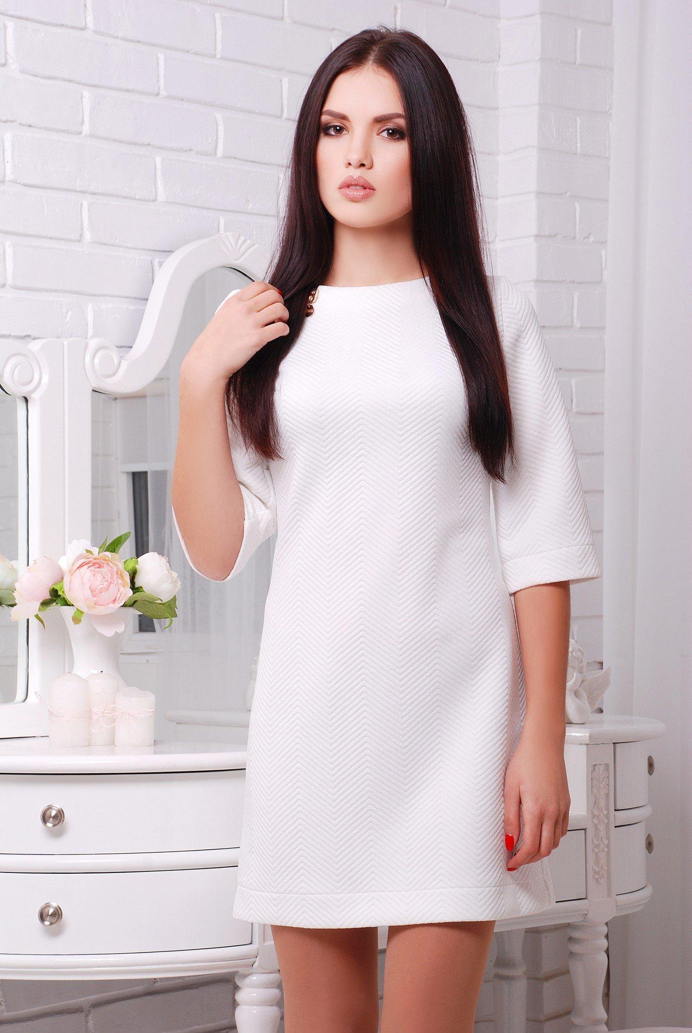 e737271029c Молодежное женское белое платье Эшли - купить недорого — Donna Bella ...