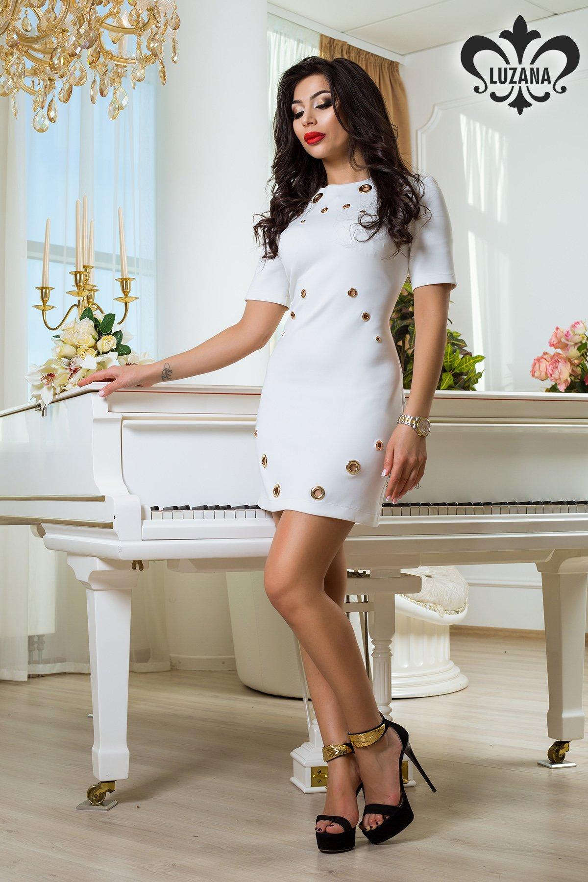 d0f48f992e3 Белое трикотажное платье Гранд - купить недорого — Donna Bella - Lu ...