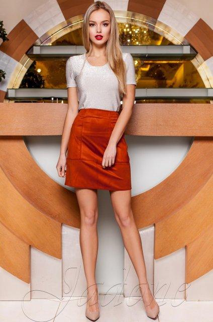 49d9868737d Замшевая юбка Ирис кирпичная - купить недорого — Donna Bella - J ...