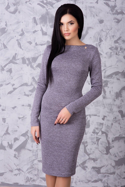 6a026464ac446a Тепла жіноча лілова сукня Ангора - купити недорого — Donna Bella ...