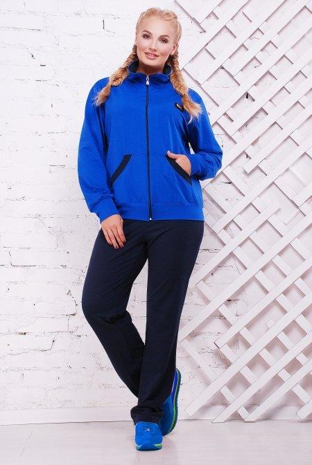e9ddec33 Спортивный костюм Дуэт темно-синий+электрик - купить недорого ...