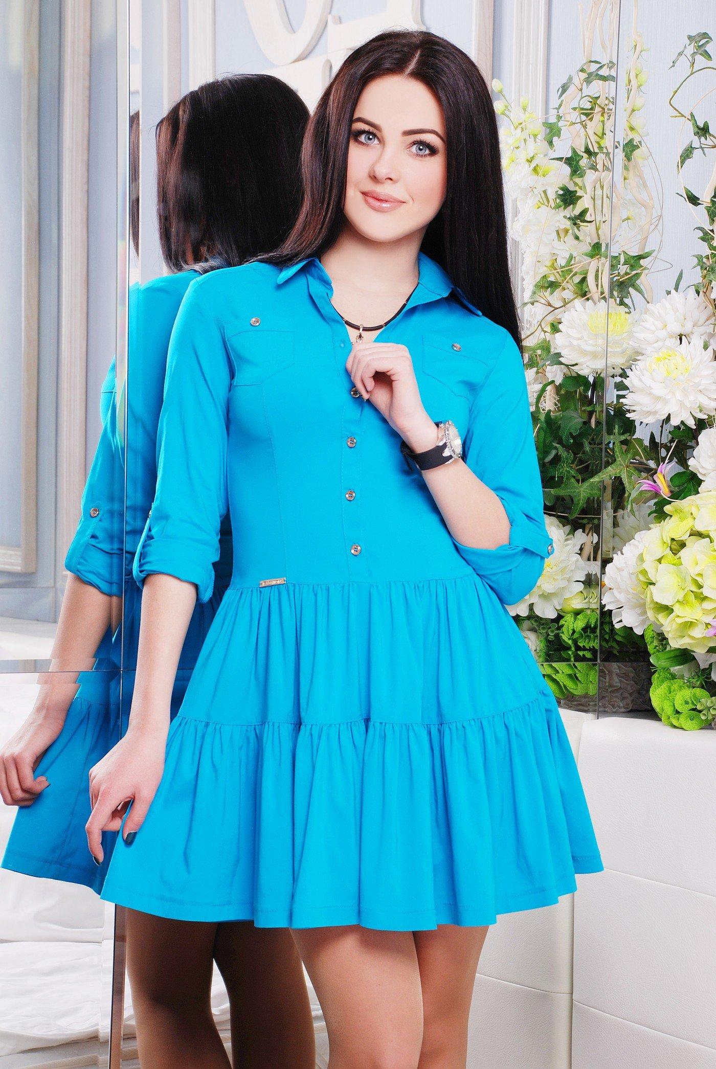 Яскраве жіноче блакитне плаття Фешн - купити недорого — Donna Bella ... 6ad4013ba22a1