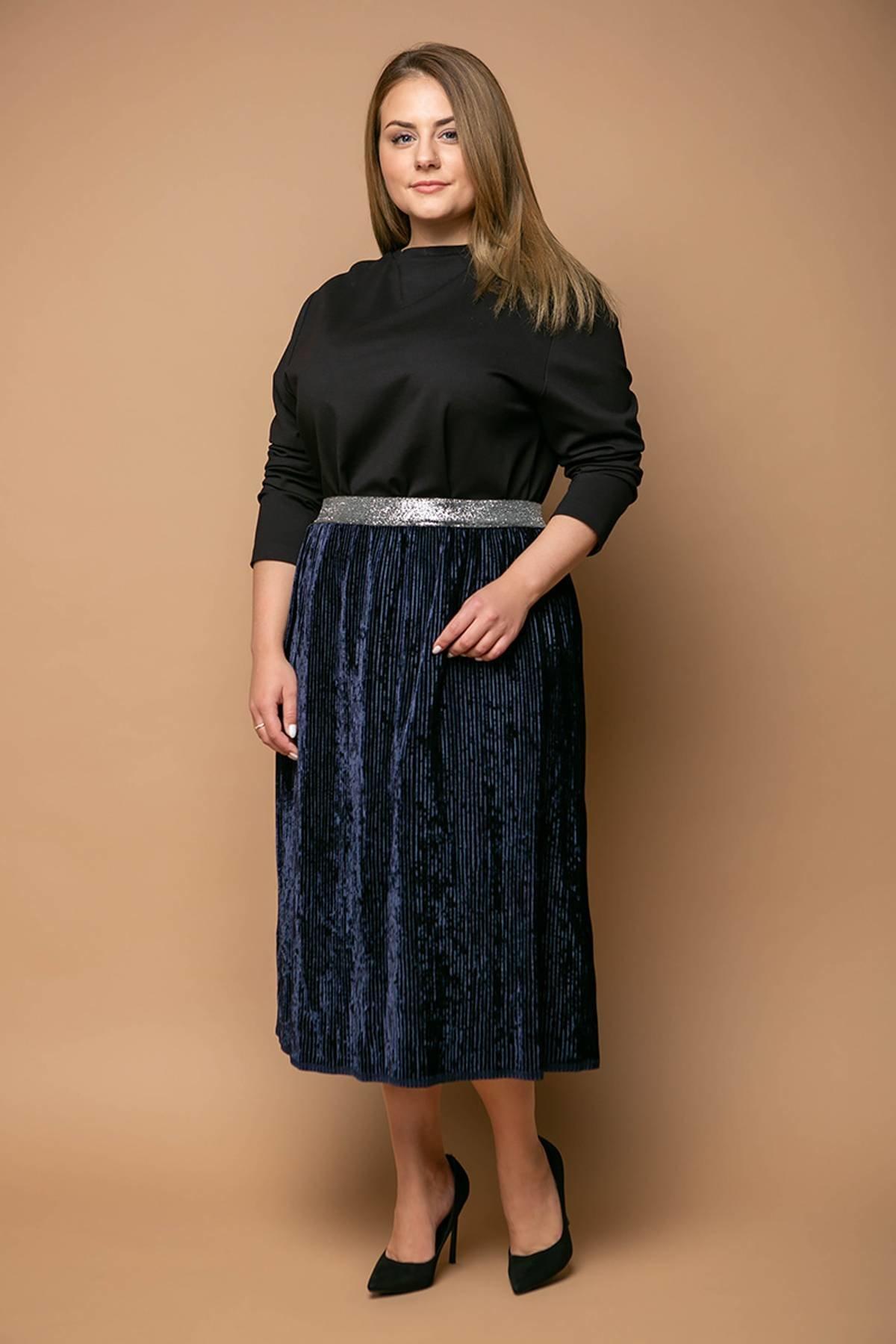 9a2fa0d4133 Темно-синяя юбка MIKAEL - купить недорого — Donna Bella - Та-MIKAEL-2-54