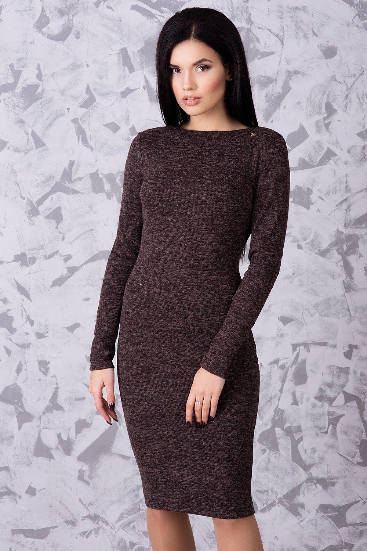 163bd4d9f35bb3 Тепла жіноча сукня Ангора шоколад - купити недорого — Donna Bella ...