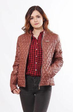 Жіноча коричнева куртка 1-Р - купити недорого — Donna Bella - MF-1Р-1-44 b6ca6d5197716