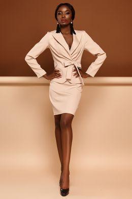 19e7daa44cc9a0 Бежевий костюм Еллері - купити недорого — Donna Bella - J-Эллери-4-42