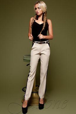 8dd4115e07fc99 Бежеві жіночі брюки Леді - купити недорого — Donna Bella - Леди М-2-42
