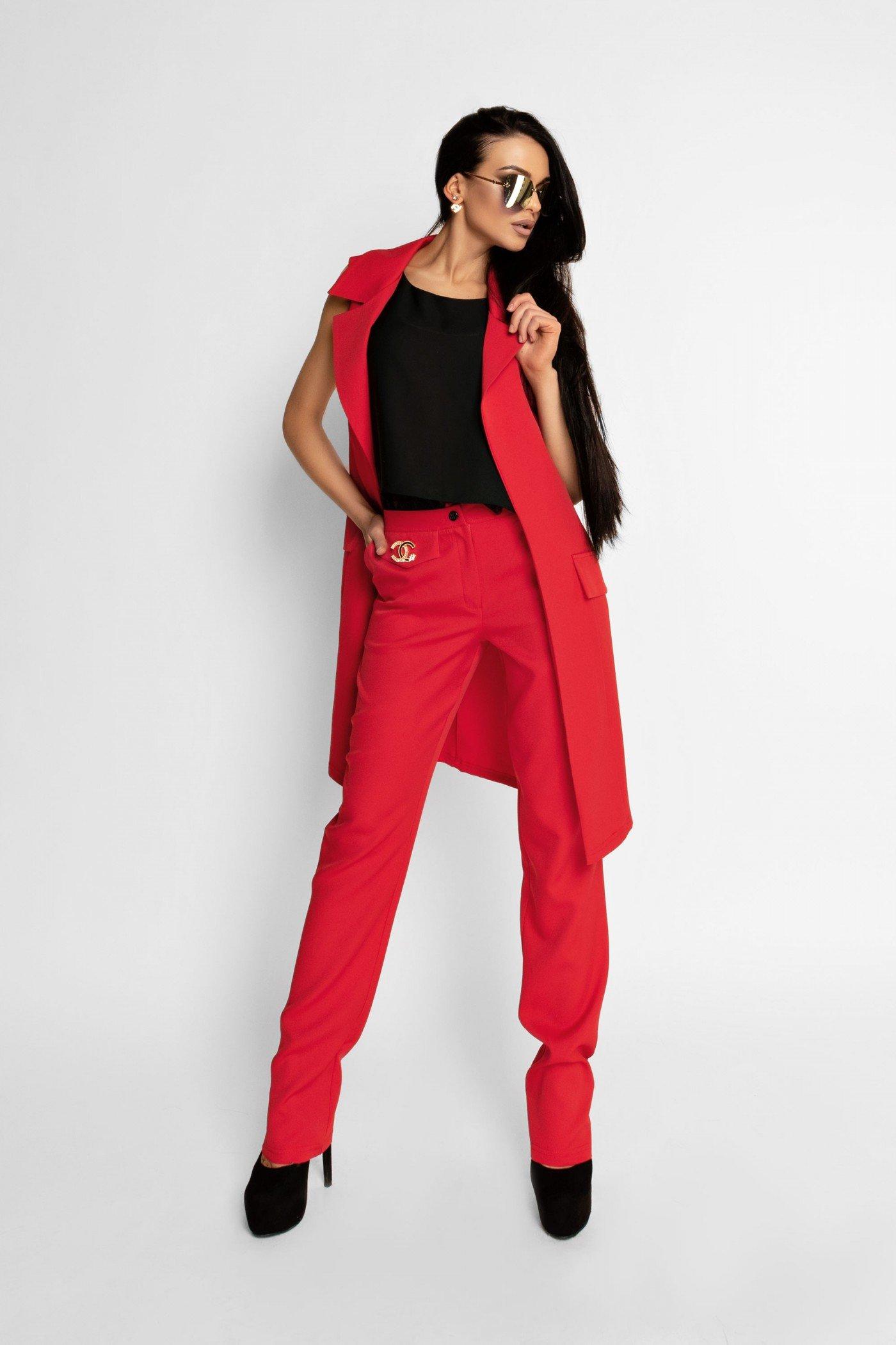 25b977218a7 Красный костюм Эдит - купить недорого — Donna Bella - J-Эдит-1-42
