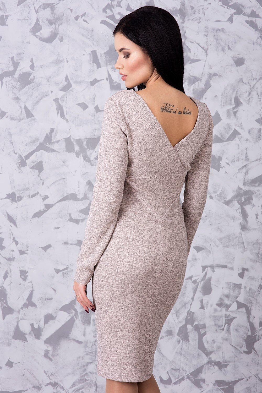 18c5d7b7a40ed0 Тепла жіноча сукня Ангора пудра - купити недорого — Donna Bella - IR ...