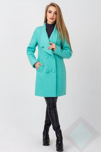 8fd7ac5f4f46 Демисезонное пальто ЖЕНЕВА мята - купить недорого — Donna Bella - LP ...
